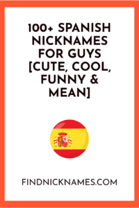 Spanish nicknames for guys