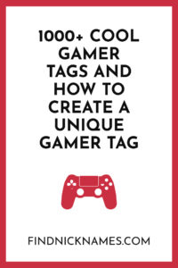 Best Gamer Tags