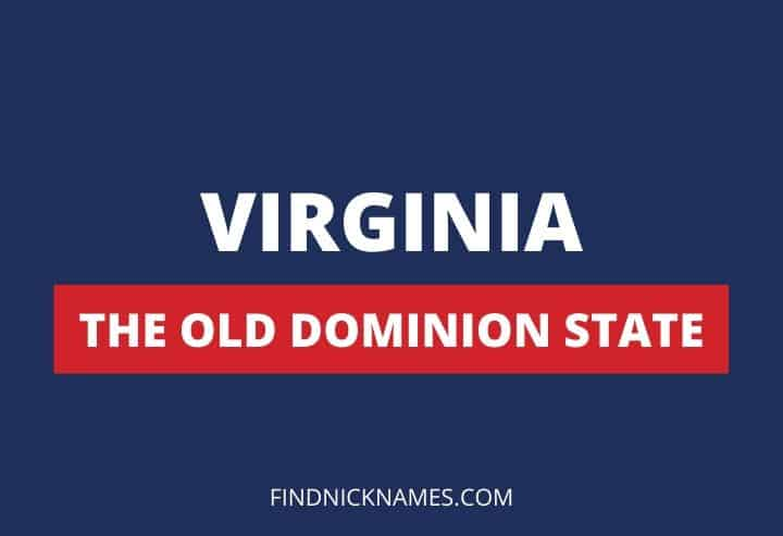 Virginia Nicknames