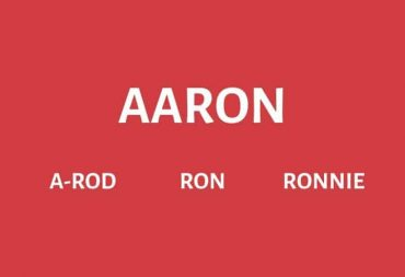 Nicknames for Aaron