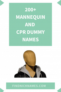 Mannequin Names