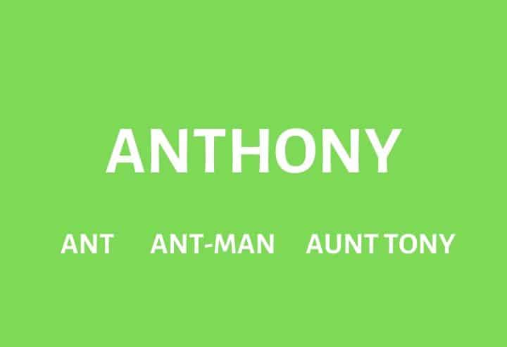 Nicknames for Anthony