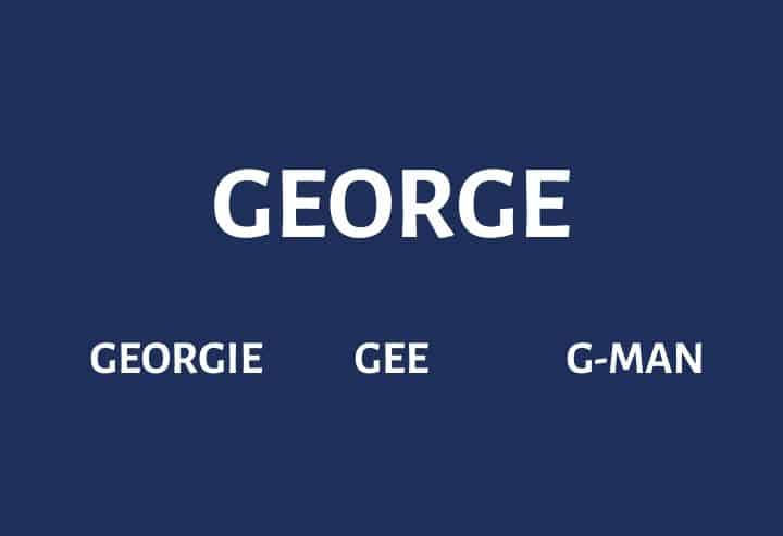 Nicknames for George