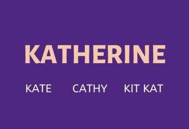 Nicknames for Katherine