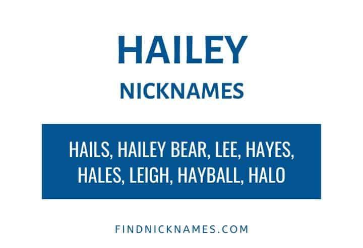 Hailey Nicknames