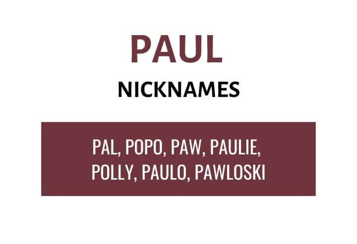 Nicknames for Paul