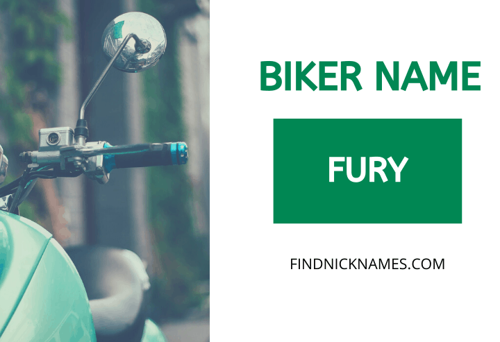 Biker Names Starting With F