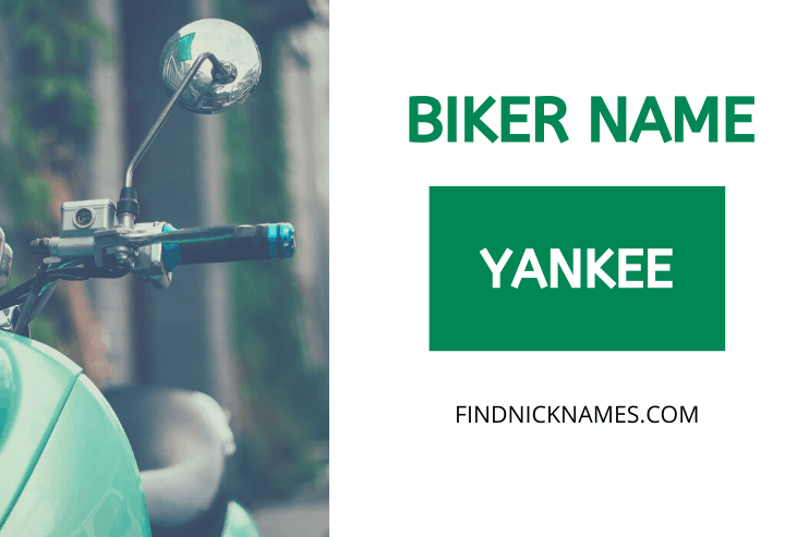 Biker Names Starting With Y
