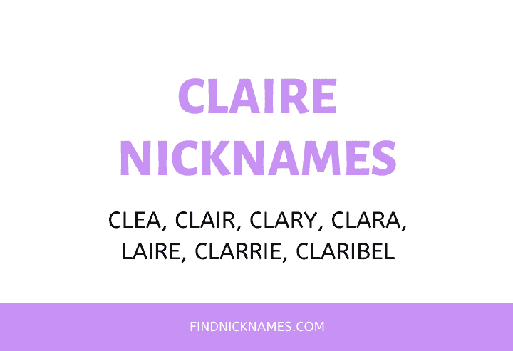 Nicknames for Claire