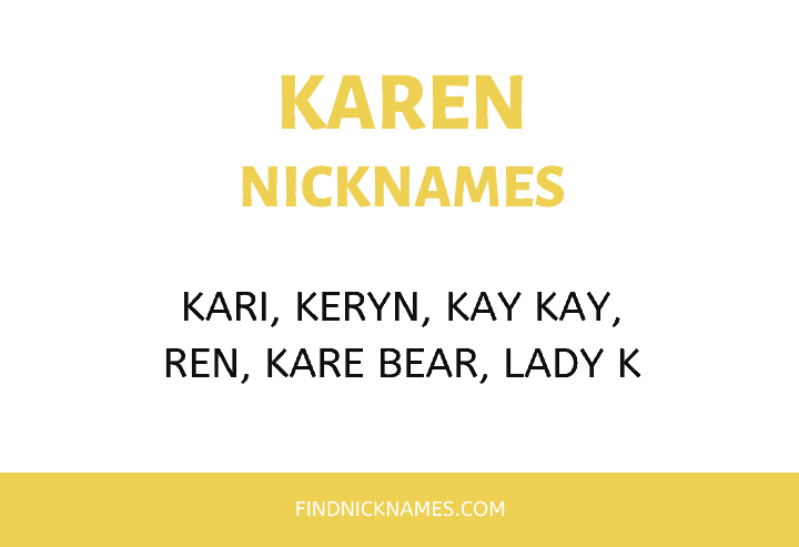 Nicknames for Karen
